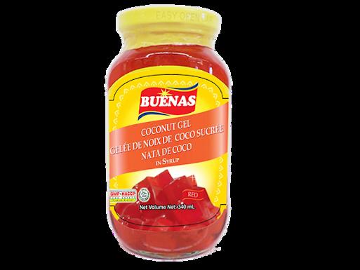 Buenas Nata De Coco Coconut Gel (Red) 340g