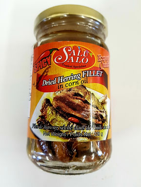 Salu Salo Dried Herring in Corn Oil Spicy 220g