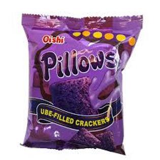 Oishi Pillows Ube Filled Crackers 38g