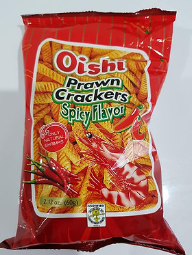 Oishi Prawn Crackers Hot and Spicy 60g