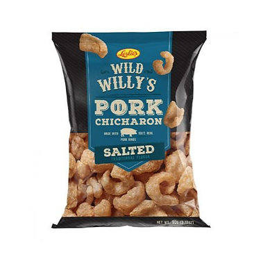 Leslie's Wild Willy's Real Chicharron - Lightly Salted 90g