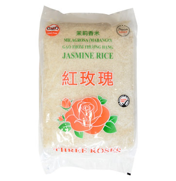 Three Rose 100% Jasmine Rice 5kg