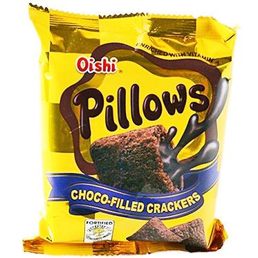 Oishi Pillows Choco Filled Crackers 38g
