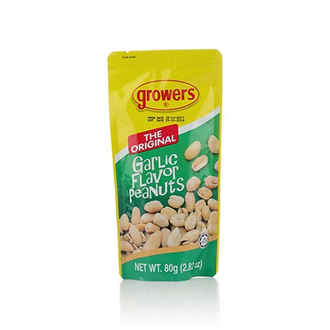 Growers Peanuts Garlic 80g