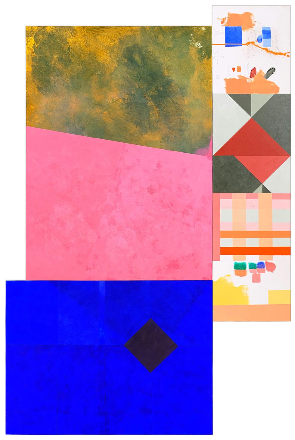 TudoS  #1809 2019 Acrílica sobre tela  tríptico 163 X 111 cm