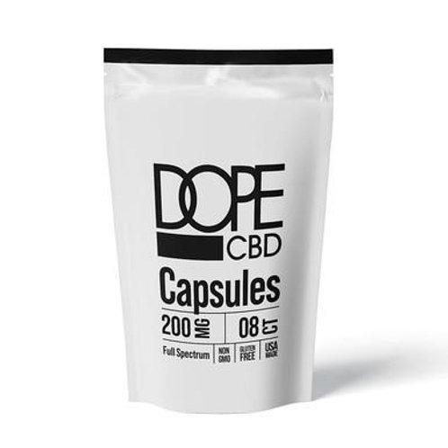 Dope CBD - CBD Capsules - Full Spectrum Caps - 200mg