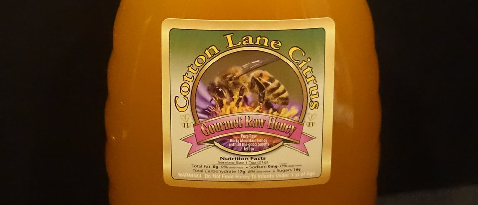 Cotton Lane Citrus Killer Bee 100% Pure Raw Honey 3lb