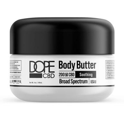 Dope CBD - CBD Topical - Broad Spectrum Body Butter - 200mg