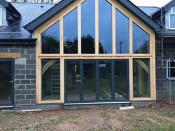 oak frame with black dooras