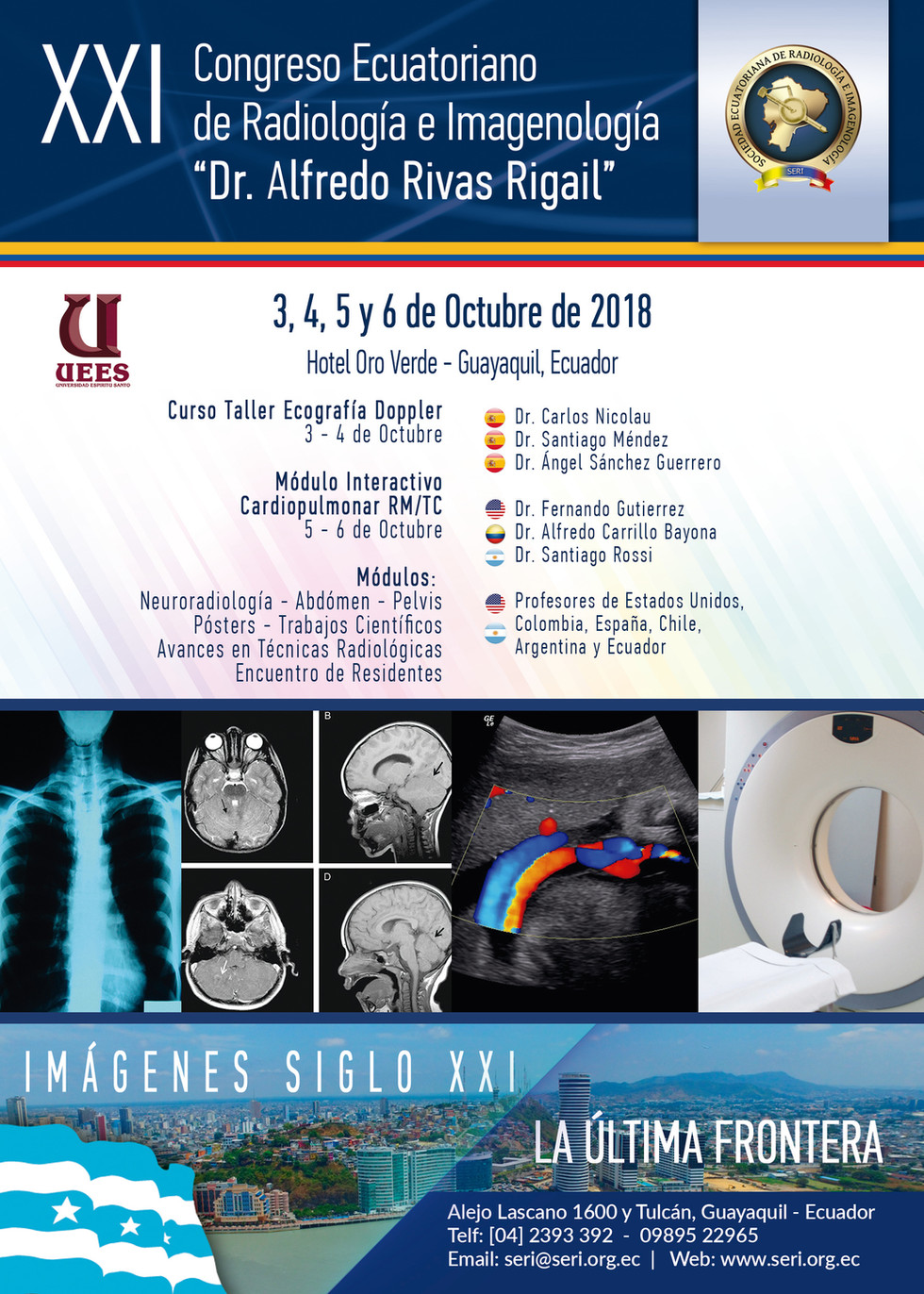 "XXI CONGRESO ECUATORIANO DE RADIOLOGÍA E IMAGENOLOGÍA ""DR. ALFREDO RIVAS RIGAIL"""