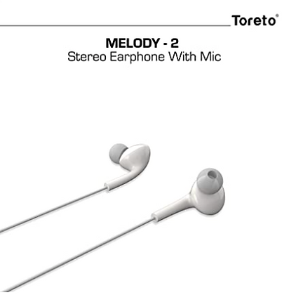 Melody-2 275, in-Ear Headphones with Mic(White, TOR-275)