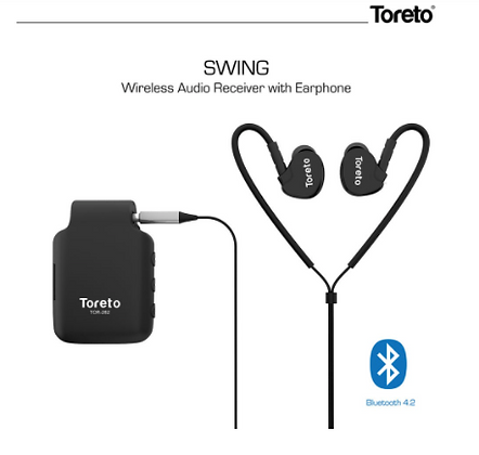 Swing,262, in Ear Bluetooth Receiver with Mic(TOR-262, Black)