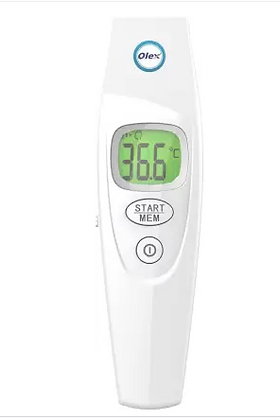 OLEX Digital Non-Contact Infrared Thermometer  (White)