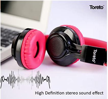 THP 201 Bluetooth Headphone (RED/ BLUE)