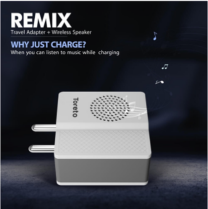 515 Single USB Charger Adapter (2.4A) and 3w Bluetooth Speaker