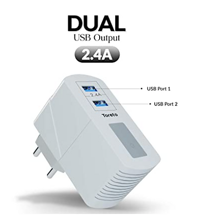 Remix-Duo, 513 Dual USB Charger Adapter (2.4A) and 3w Bluetooth Speaker