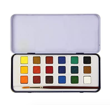 CAMLIN-Artists Water Colour Cakes 18 Shades 300-C-18 1Box
