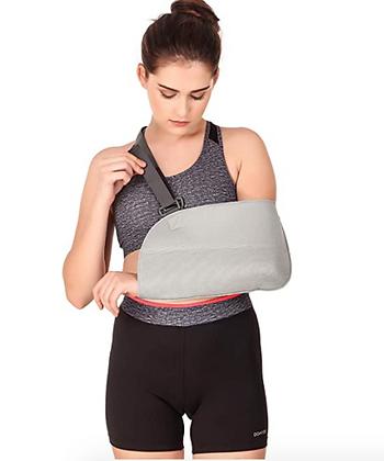 Arm Sling Pouch with Shoulder Cushion Adjustable Shoulder Immobilizer