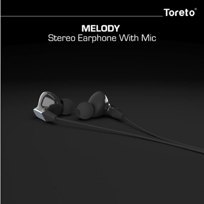 Melody 274, in-Ear Headphones with Mic (White/Black, TOR-274)