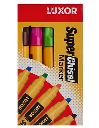Luxor Bold Marker Pen Col Pack of 10pcs