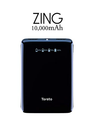 Zing, 1000_10,000mAH Lithium Polymer Power Bank with Flash Light