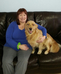 Dixie with her Foster mom Cheryl