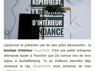 Mode- und Lifestyle Bloggerin Charlotte Bovigny berichtet über Koperfieldt