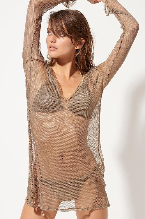 'NET' KAFTAN DRESS