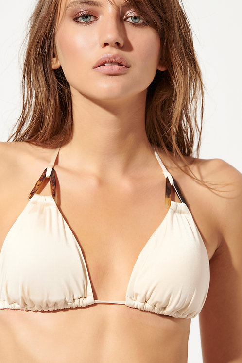 'TRILATERAL' TRIANGLE BIKINI TOP