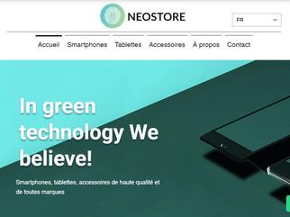 Création d'un site vitrine pour l'entreprise Neostore