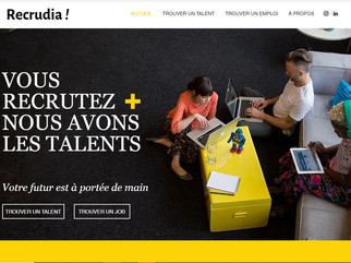 Création d'un site vitrine  pour l'entreprise Recrudia