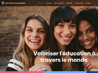 Création d'un site vitrine pour la Fondation Liam Diarra