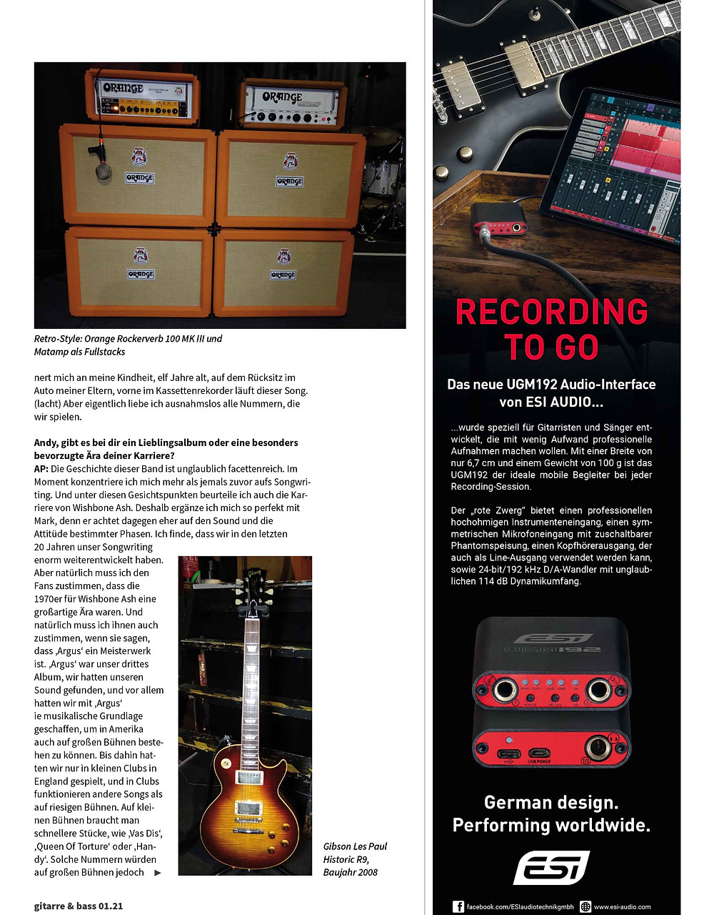 andy powell and mark abrahams of wishbone ash interview german magazizne gitarre and bass