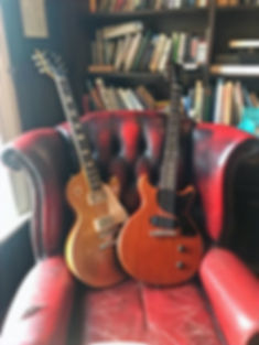 Mark Abrahams Les Paul Junior and Gold Top