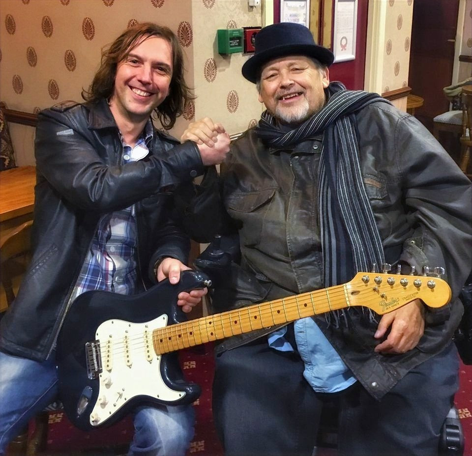 Leeds, Yorkshire Guitarist Charlie Speed With Mark Abrahams, Wishbone Ash Guitar Player