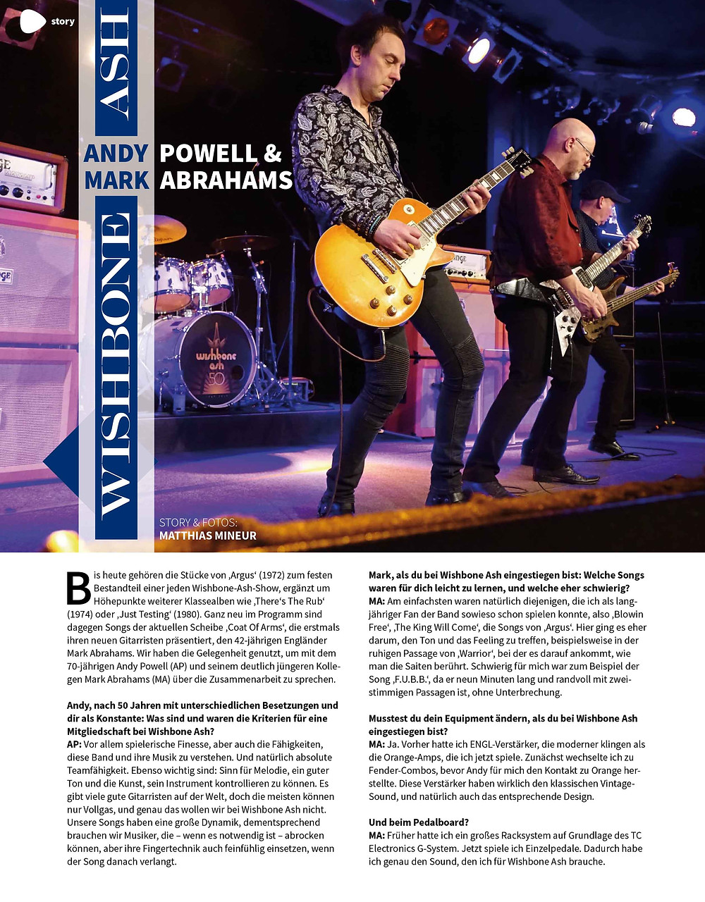 Wishbone Ash gitarre & bass magazine andy powell mark abrahams