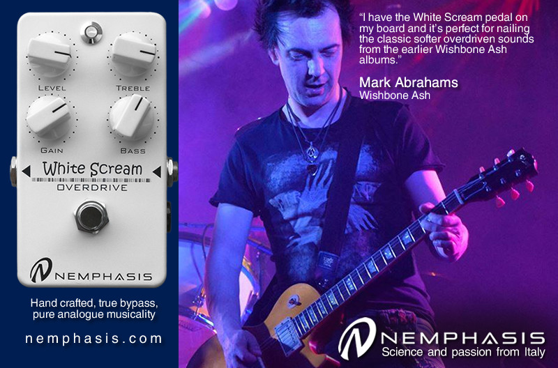 Mark Abrahams Wishbone Ash Nemphasis White Scream Pedals