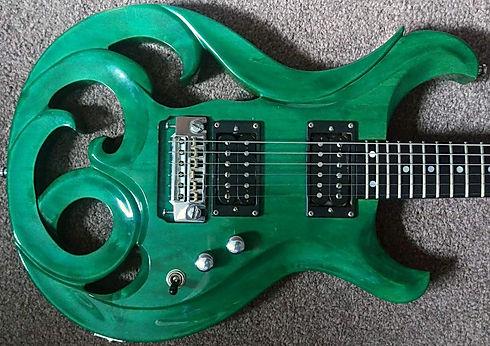 Elvidge Amazon Green Guitar Mark Abrahams