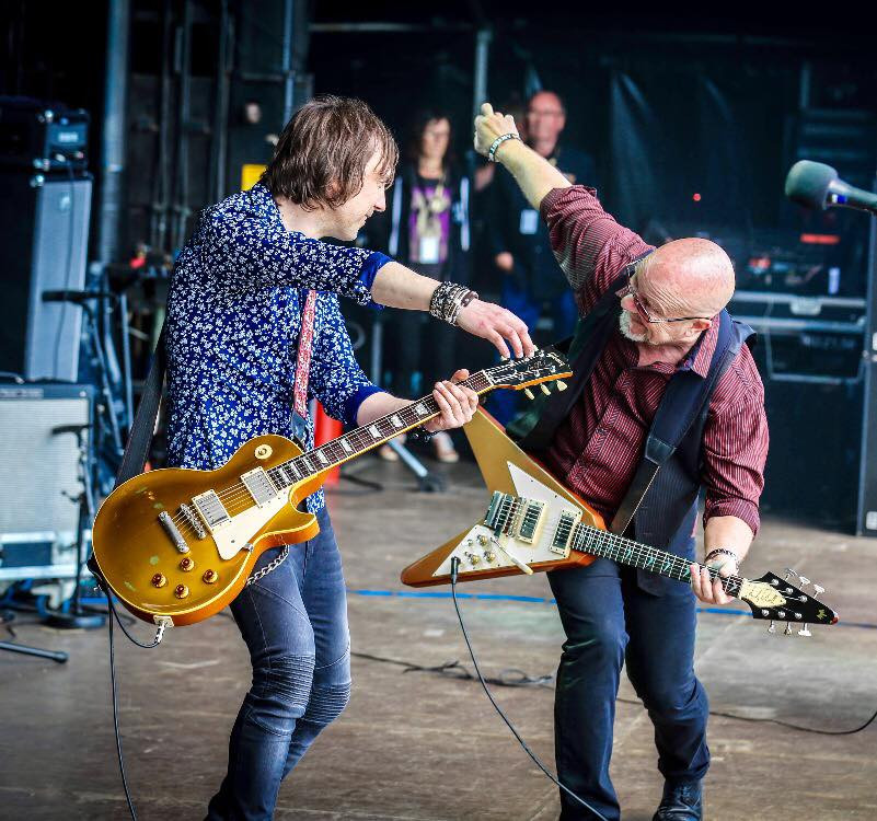 Mark Abrahams and Andy Powell. Wishbone Ash Sweden Rock 2017