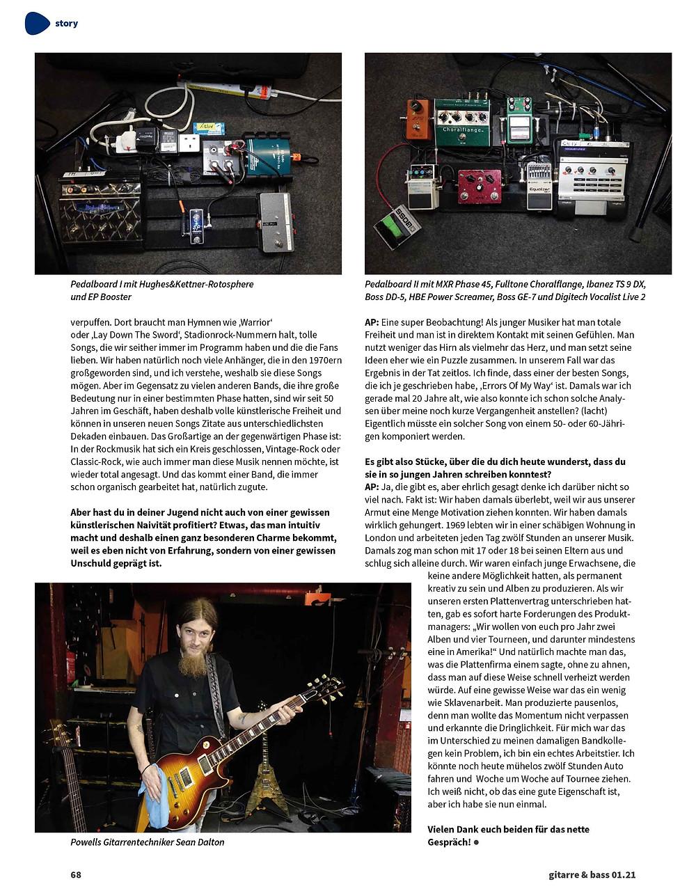 mark abrahams interview gitarre and bass guitar magazine wishbone ash