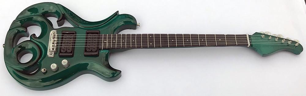 Miniature Elvidge Amazon Green Phoenix Guitar