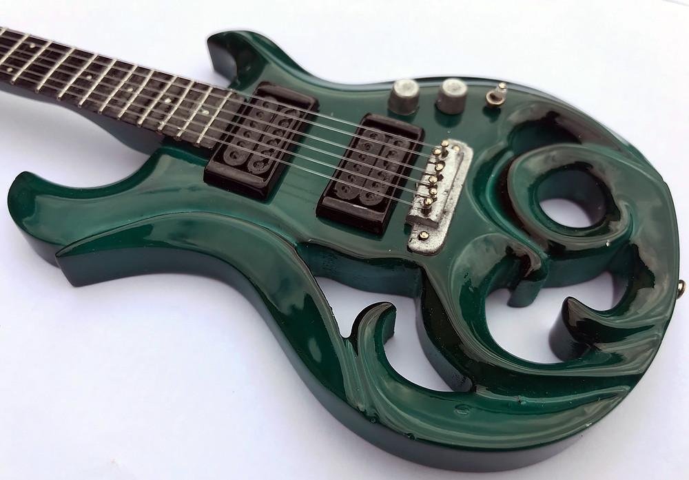 Miniature Elvidge Amazon Green Guitar