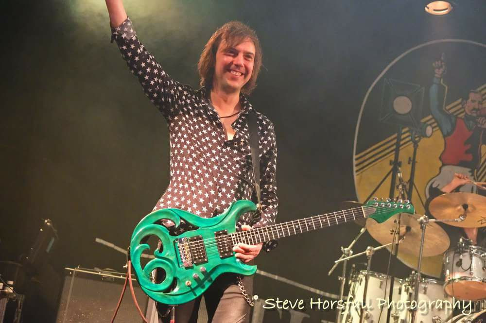 Mark Abrahams Elvidge Amazon Custom Green Guitar