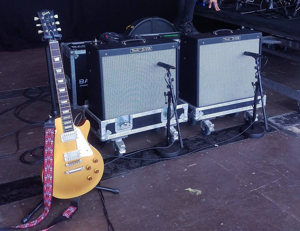 Mark Abrahams Wishbone Ash Equipment