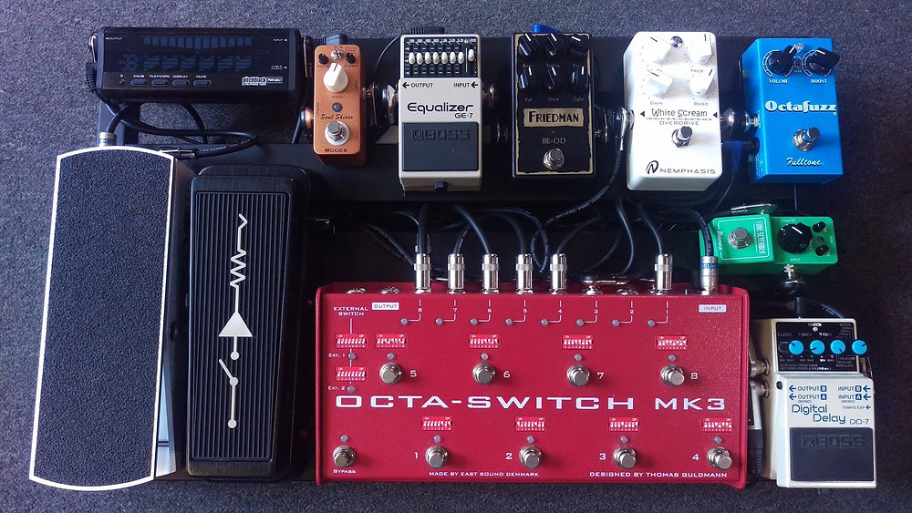 Mark Abrahams Wishbone Ash Guitar Effects Pedals Pedalboard