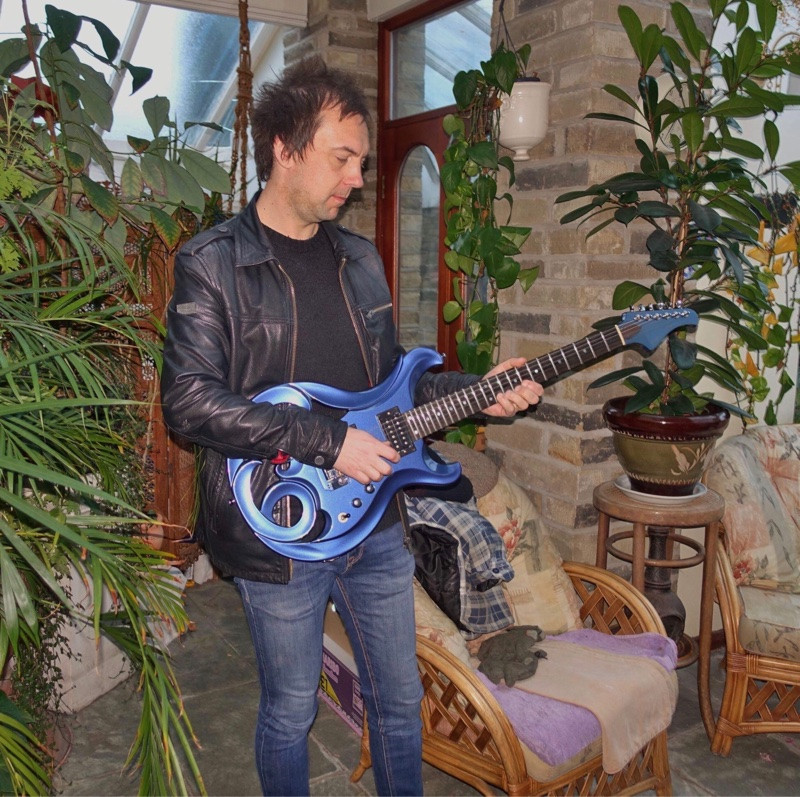 Mark Abrahams Blue Elvidge Amazon Custom Guitar