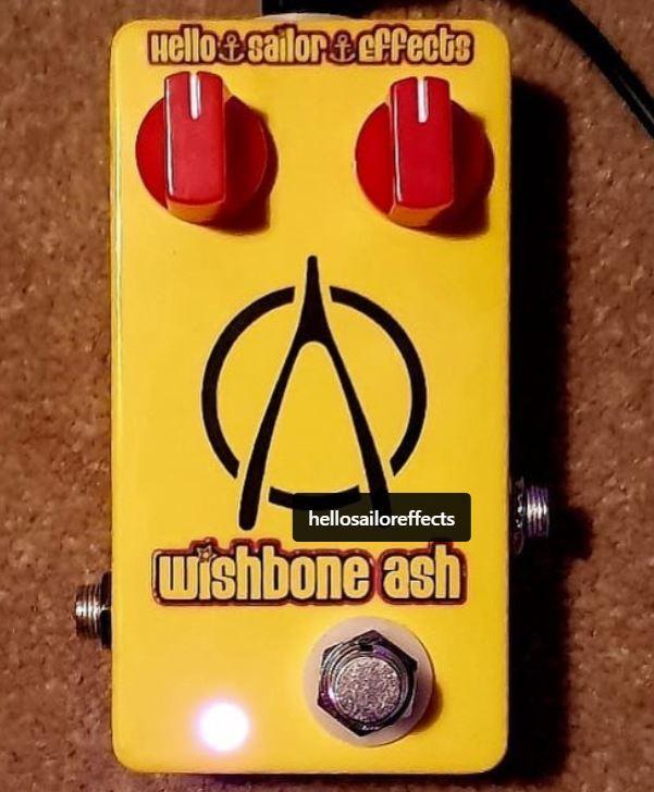 Hello Sailor Anchor Drive Pedal Custom Built For Mark Abrahams Guitarist In Wishbone Ash