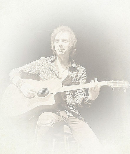 Mark Abrahams with Yamaha Acoustic Guitar with Wishbone Ash