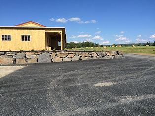 dynamitage bromont beau mur de roche pour terrassement