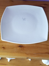 Large square plate convex sides